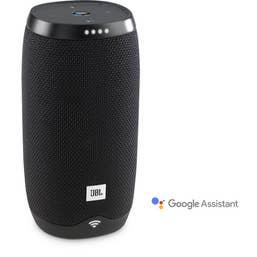 JBL Link 10 Google Voice Activated Portable Speaker (Black)