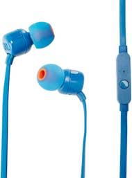 JBL Tune 110 In-Ear Headphones with Mic - Blue