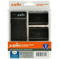 Jupio Panasonic DMW-BLF19 Twin Battery plus Charger Kit Suits GH4 & GH5