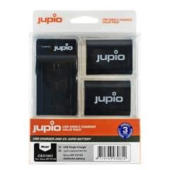 Jupio Single USB Charger Kit with 2x Sony NP-FZ100 Battery