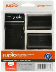 Jupio Canon LP-E6 Twin Battery plus Charger Kit