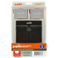 Jupio Canon LP-E8 Dual Battery and USB Dual Charger Kit