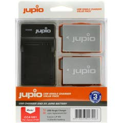 Jupio Canon LP-E8 Twin Battery and Charger Kit