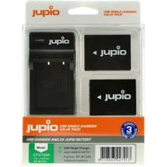 Jupio Fuji NP-W126S Twin Battery & Single Charger Kit