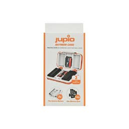 Jupio Hard Battery Case Fits 2 batteries  plus 14 Memory Cards