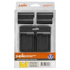 Jupio Value Pack: 2x Battery EN-EL15C 2100mAh plus USB Dual Charger