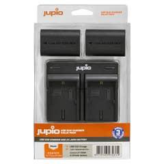 Jupio Value Pack: 2x Battery LP-E6NH 2130mAh plus USB Dual Charger