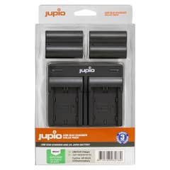 Jupio Value Pack: 2x Battery NP-W235 plus USB Dual Charger