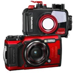 Olympus TG-6 and PT-059 Underwater Housing - Red