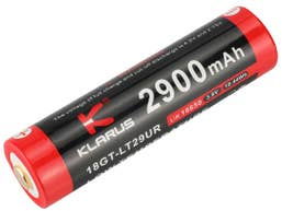 Klarus 3.6V 18650 2900mah Cold Resistant with Micro USB Charging Port