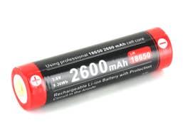 Klarus 3.6V 18650 3600mah Battery with Micro USB Charging Port