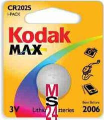 Kodak Max Lithium Battery KCR2025 - 1PK