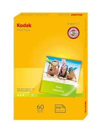 Kodak Photo Paper 180GSM 60 Sheets Gloss Instant Dry 4R