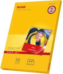 Kodak 50 Sheets Gloss Instant Dry 240gsm A4 Photo Paper