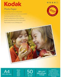 Kodak 50 Sheets Matte Finish 180gsm A4 Photo Paper