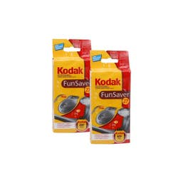 Kodak Low Cost One-Time-Use Flash 27exp Camera - 2 Pack Bundle