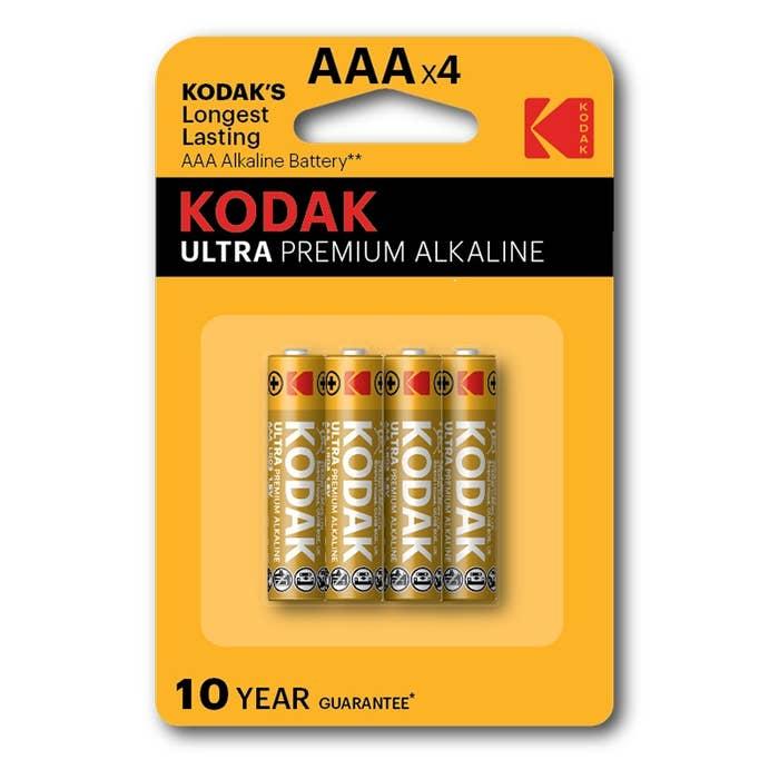 Kodak Ultra Premium Alkaline Battery K3A-4PK