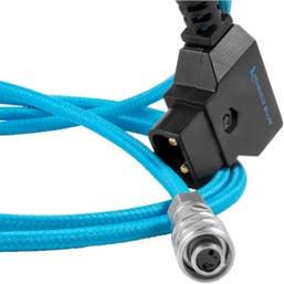 Kondor Blue 1.2m D-Tap to BMPC 4K/6K Power Cable - Blackmagic PocketCinema 4K DTap 1.2m Blue
