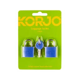 Korjo Luggage Lock Keyed 20mm - Colour (2 Pk)