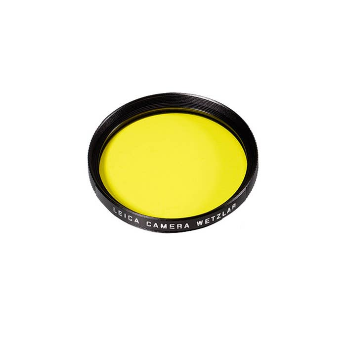 Leica Filter Yellow E49 black