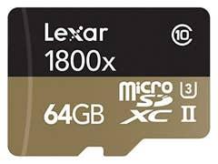 Lexar 64GB Professional 1800x UHS-II microSDXC Memory Card (U3)
