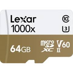 Lexar Professional 64GB 1000x microSDXC UHS-II U3