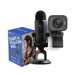 Logitech Blue Yeti Microphone & StreamCam Streaming Bundle