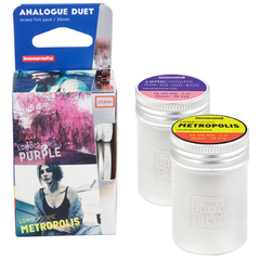 Lomography Analogue Duet Mixed Film Pack 35mm (2 Rolls) Metal canisters + Lomo keyring