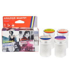 Lomography Analogue Quartet Mixed Film Pack 35mm (4 Rolls) Metal canisters + Lomo keyring