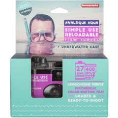 Lomography Simple Use Camera with Underwater Case - LomoChrome Purple
