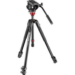 Manfrotto 190XV  plus MVH500AH Video Kit Tripod
