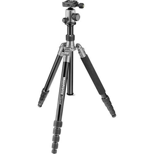 Manfrotto Element Large Aluminum Traveler Tripod with Ball Head and Bag (Grey)