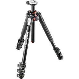 Manfrotto MT190XPRO4 Alum. 4 section tripod - Black (legs only)