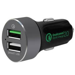 Mbeat QuickBoost S Dual Port Quick charge 2.0 and Smart USB Car Charger