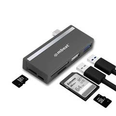 Mbeat Essential 5-IN-1 USB- C Hub (USB hub 2.0, 3.0, SD/TF card reader)