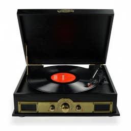mbeat Vintage Wood Turntable With BlueTooth SPK/AM/FM