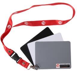Micnova Digital Grey Card Set on a lanyard