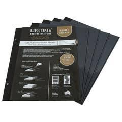 NCL Self Adhesive Refills A4 Slim 5 Sheets Black UR1