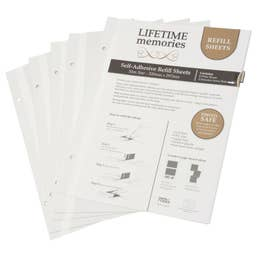NCL Self Adhesive Refills A4 Slim 5 White Sheets