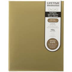 NCL Self Adhesive Slim Gold Refillable Album - White Pages UR1