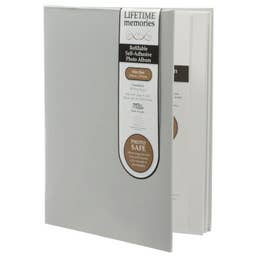 NCL Self Adhesive Slim Grey Refillable Album White Pages