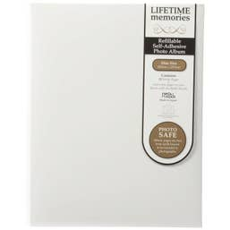NCL Self Adhesive Slim White Refillable Album - White Pages UR1
