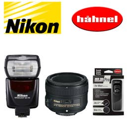 Nikon Portrait Lens & Speedlite Kit with Bonus Hahnel 280 Remote Control
