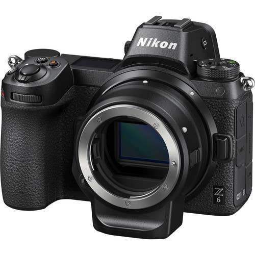 Nikon Z6 Mirrorless Digital Camera with FTZ Mount Adapter Kit