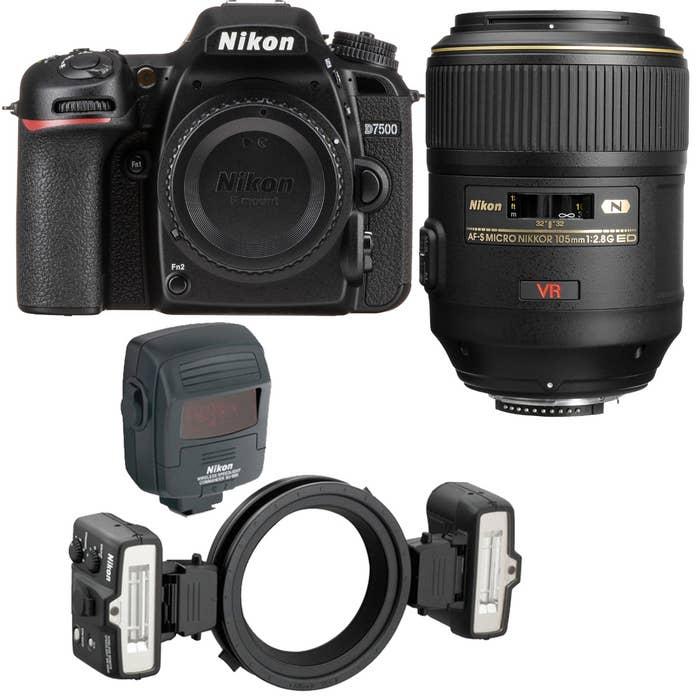 Nikon D7500 Dental Kit with 105mm f/2.8G Lens and R1C1 Ring Flash Kit