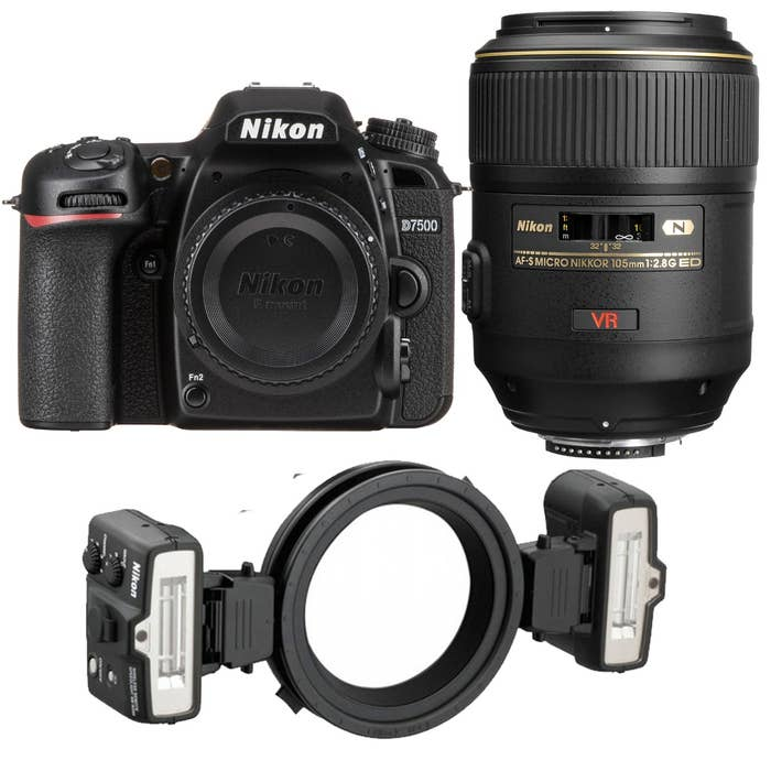 Nikon D7500 Dental Kit with 105mm f/2.8G Lens and R1 Ring Flash Kit