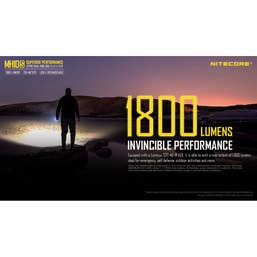 Nitecore 1800 Lumen - MH10S Torch