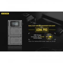 Nitecore USN4 Sony USB Dual Slot Charger for NP-FZ100