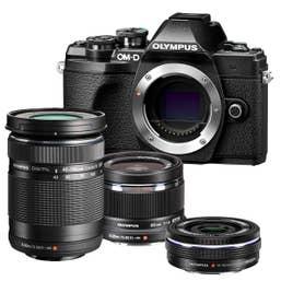 Olympus E-M10 Mark III - Black 3 Lens Kit