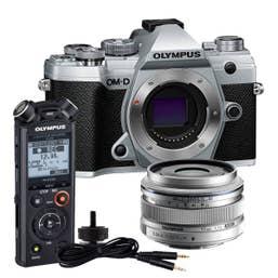 Olympus E-M5 Mark III - Content Creators Kit - Silver Body / Silver Lens